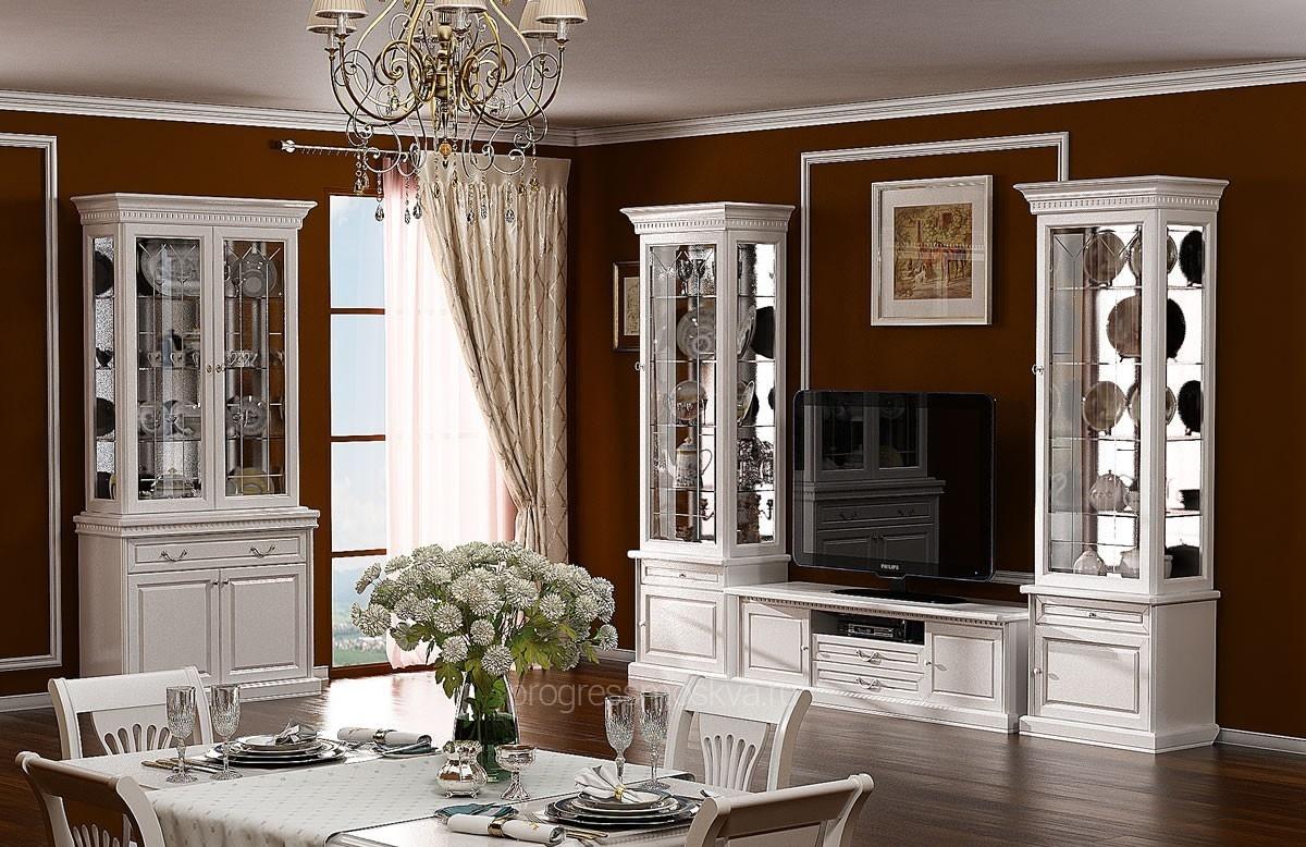 гостиная из массива дуба соломон белая эмаль мебель для гостиных из
